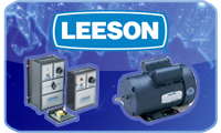 LEESON AC and DC stock motor, gearmotors and control units