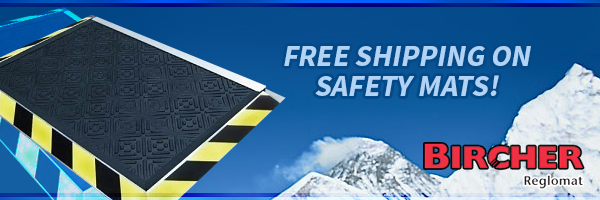 Free Shipping on Bircher Reglomat Safety Mats!