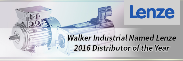 Lenze Names Walker Industrial Their 2016 Distributor of the Year!