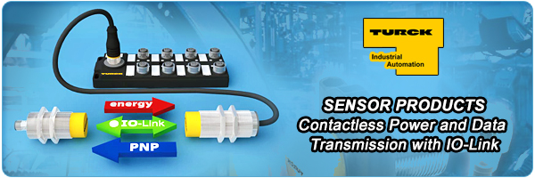 Contactless Power and Data Transmission with IO-Link from TURCK