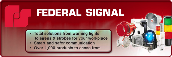 Federal Signal products available at Walker Industrial