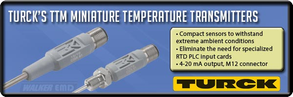 TURCK TTM Miniature Temperature Sensors at Walker Industrial