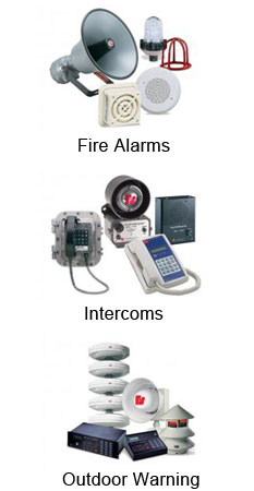 Federal Signal Visual Signals, Audible Devices, Intercoms, Public Address, Telephone Interfaces, Initiating Devices, Fire Alarms