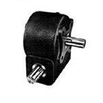 Worm Gear Reducer Model 412 Rugged Cast Iron Housing with SAE 2 Bolt 'A' Flange