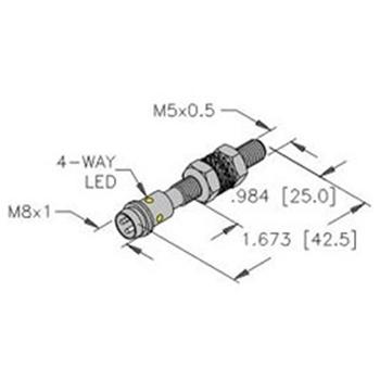 bi1 eg05 ap6x v1331 turck 5mm barrel sensor embeddable picofast bi1 eg05 ap6x v1331 turck