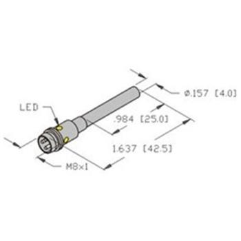 bi1 eh04 ap6x v1331 turck 4mm barrel sensor embeddable picofast bi1 eh04 ap6x v1331 turck
