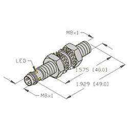 Bi2u Eg08 Ap6x V1131 Turck 8mm Barrel Sensor Embeddable