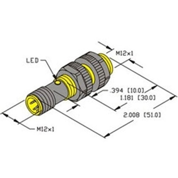 BI3U-S12-AN6X-H1141 -Turck 12mm Barrel Sensor, Embeddable, Eurofast Quick  Disconnect, Plastic, Uprox 3-wire DC NPN | Turck Npn Sensor Wiring Diagram |  | Walker Industrial