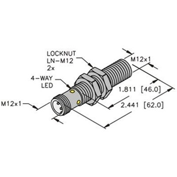 BI4-M12-VP6X-H1141 -Turck 12mm Barrel Sensor, Embeddable, Eurofast Quick  Disconnect, Ext. Range, Comp. Outputs 4-Wire DC PNP | Turck 12 Pin Wiring Diagram |  | Walker Industrial