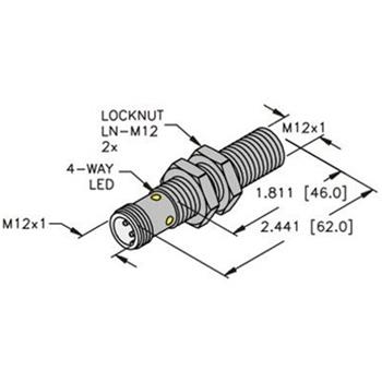 BI4-M12E-AN6X-H1141 -Turck 12mm Barrel Sensor, Embeddable, Eurofast Quick  Disconnect, Ext. Range 3-Wire DC NPN | Turck Npn Sensor Wiring Diagram |  | Walker Industrial