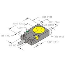BI5-Q08-AN6X2-V2131 - Turck 8mm rectangular sensor, Embeddable, picofast  Connector, 3-Wire DC NPN | Turck Npn Sensor Wiring Diagram |  | Walker Industrial