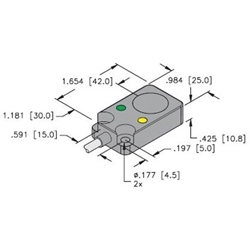 bi8 q10 vp6x2 turck 10mm rectangular sensor embeddable potted bi8 q10 vp6x2 turck