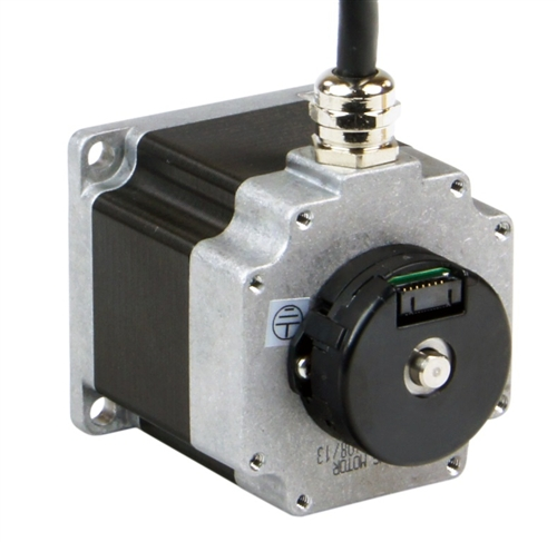 HT23-598DC-ZAA - Applied Motion Products NEMA 23 Double Shaft Step Motor  with 10 Foot Shielded Cable and ZAA Encoder