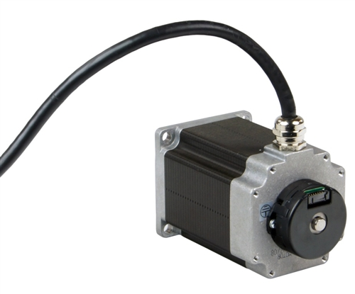 HT23-601DC-ZAA - Applied Motion Products NEMA 23 Double Shaft Step Motor  with 10 Foot Shielded Cable and ZAA Encoder