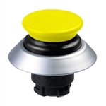 NDLP30GR/GB- Schmersal Yellow NDLP lighted pushbutton with black bellows