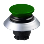 NDLP30GR/GN- Schmersal Green NDLP lighted pushbutton with black bellows