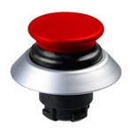 NDLP30GR/RT- Schmersal Red NDLP lighted pushbutton with black bellows