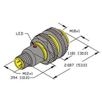 ni8 s18 ap6x h1141 turck 18mm barrel sensor nonembeddable ni8 s18 ap6x h1141 turck