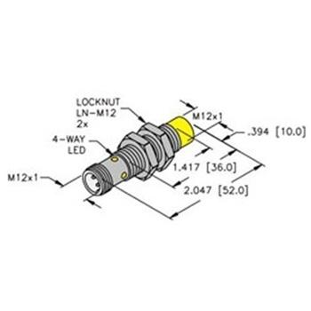 ni8u m12e ap6x h1141 turck 12mm barrel sensor nonembeddable ni8u m12e ap6x h1141 turck