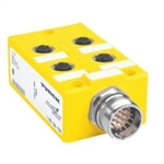 Turck VB 40-0.3-CSM 12 4-port J-box; 1 signal per port; Integral cable (U-50401) VB4003CSM12